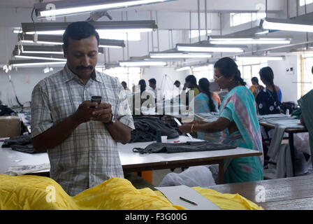 Garment industry ; Tirupur ; Tamil Nadu ; India - Stock Photo