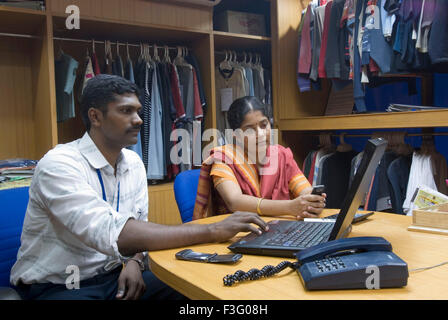 Garment industry ; Tirupur ; Tamil Nadu; India - Stock Photo