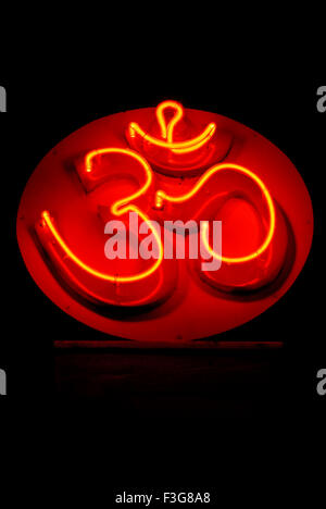 Om Cosmic Creation Holy Symbol Of Hindu Painted In Red Color Pune