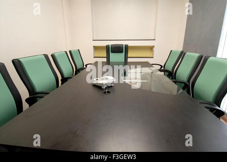Pharmaceutical Research Laboratry ; lab ; office ; conference room ; table ; chairs; telephone; Bombay Mumbai - Stock Photo
