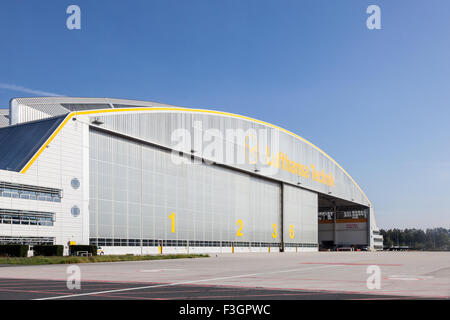 Lufthansa Technique Hangar at the Frankfurt Airport - Stock Photo