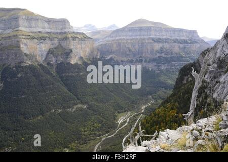 Ordesa National Park, Ordesa Valley In the Spanish Pyrenees - Stock Photo
