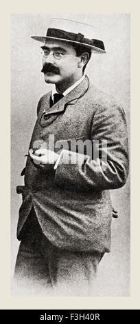 Joseph Rudyard Kipling, 1865 – 1936.   English short-story writer, poet, journalist and novelist. - Stock Photo