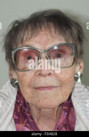 Portrait of a 92 year old woman
