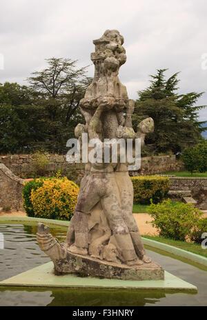 Vigo Castle Botanical Gardens.  The botanical gardens within San Sebastian castle in Vigo, Spain. - Stock Photo