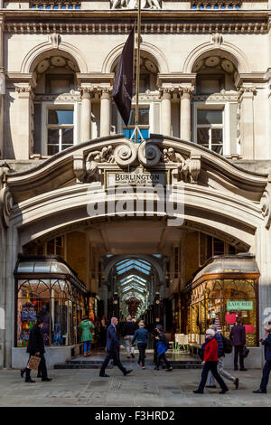 Burlington Arcade, Piccadilly, London, UK - Stock Photo