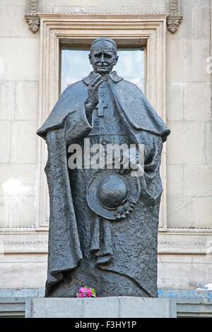 Statue of Cardinal Primade de Chile Jose Maria Caro Rodriguez (1866-1958) in Santiago, Chile - Stock Photo