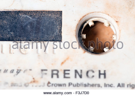 French Lessons On Audio Compact Cassette Tape - (Used By Explorer Kypros During 'The Last Great African Adventure' - Stock Photo