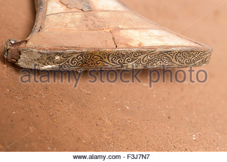 Fake Antique Rifle Inlaid With Mother Of Pearl And Bone - Western Sahara - (Found By Explorer Kypros During 'The - Stock Photo