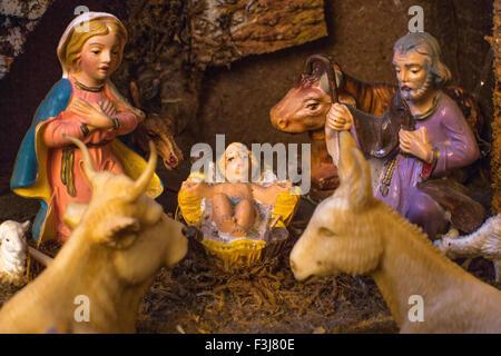 Christmas Nativity scene - Stock Photo