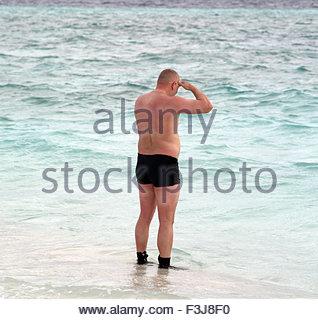 Tourists On The Beach - Maldives Asia - Stock Photo
