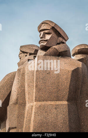 Soviet era monument for the Latvian Riflemen. Latvian Riflemen were a formation of the Imperial Russian Army. - Stock Photo