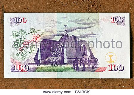 African Money Kenya Shilling Cash Kenya Africa Banknotes - Stock Photo