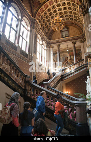 Open House Day at Foreign & Commonwealth Office - The Grand Staircase , London UK - Stock Photo