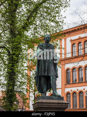Statue and University, Rostock - Stock Photo