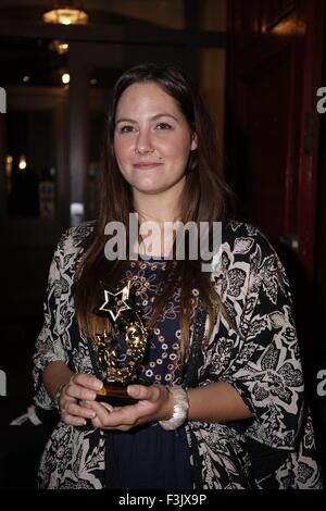 London, UK. 7th October,  2015. Stacie Clark Kintwear winner of the 'Sponsor Me Awards 2015' at Blackheath Halls - Stock Photo