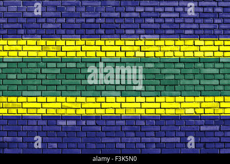 flag of Bar painted on brick wall - Stock Photo
