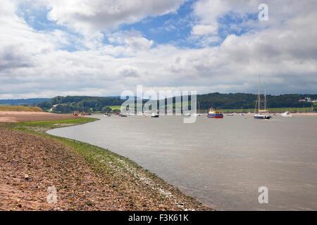 River Exe at Dawlish Warren, Devon, England. - Stock Photo