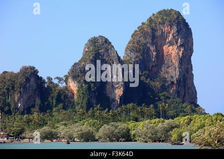 Thailand, Krabi, Railay, landscape, karst rock formations, - Stock Photo