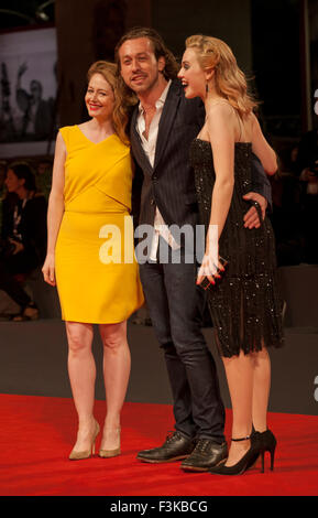 Actress, Miranda Otto, Director, Simon Stone and Actress, Odessa Young at the gala screening for the film Equals - Stock Photo