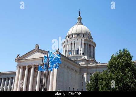 Oklahoma State Capitol building is located in Oklahoma City, Oklahoma, USA. - Stock Photo