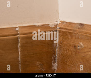 Poor diy workmanship - badly fitted wooden skirting boards ...