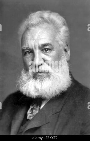 ALEXANDER GRAHAM BELL (1847-1922) Scottish-born scientist and inventor - Stock Photo