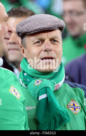 8th October 2015 Northern Ireland fan during the UEFA EURO 2016 qualification match between Northern Ireland and - Stock Photo