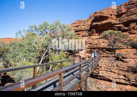 Bridge crossing at Kings Canyon in Northern Territory, Australia - Stock Photo