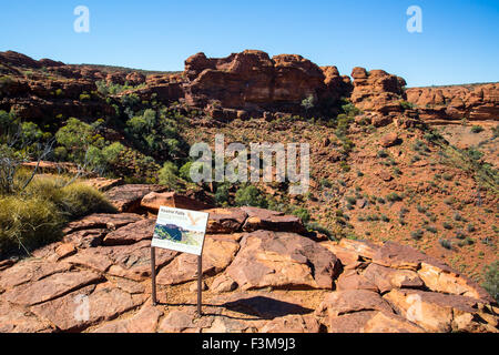 Valley view at Kings Canyon in Northern Territory, Australia - Stock Photo