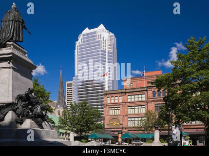 Canada,Quebec,Montreal,Phillips Square - Stock Photo