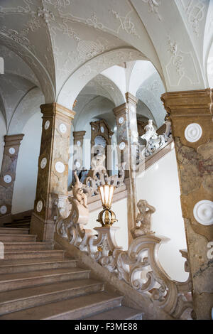 Austria,Mirabell Palace,Donnerstiege stairway - Stock Photo
