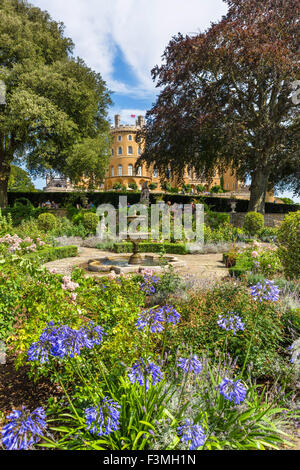 The gardens at Belvoir Castle, a stately home in Leicestershire, England, UK - Stock Photo