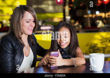 Girl,Canada,Mother,Daughter,Shopping Mall - Stock Photo
