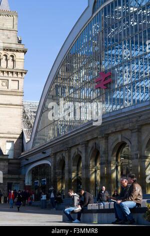 Lime Street Station, Liverpool, Merseyside, UK - Stock Photo