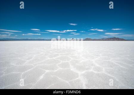 Bonneville salt flats, Utah - Stock Photo