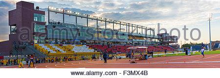 Toronto 2015 track and field stadium general view.  The CIBC athletics stadium is set in the York University Area - Stock Photo