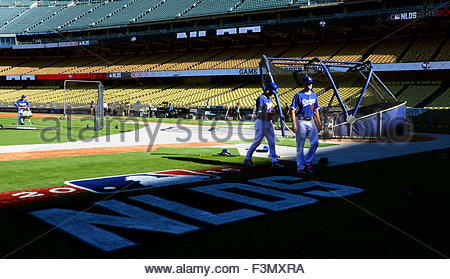 Los Angeles, California, USA. 09th Oct, 2015. prior to Major League Baseball National League Division Series game - Stock Photo