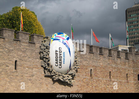 Cardiff Rugby World Cup 2015 Finals Stock Photo Royalty