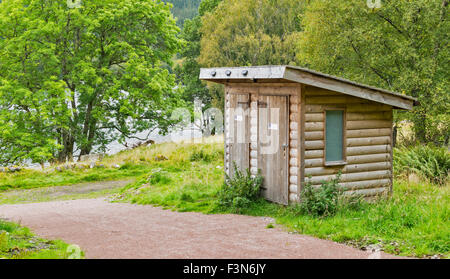 GREAT GLEN WAY OR TRAIL LAGGAN TO FORT AUGUSTUS SCOTLAND CAMP SITE AND COMPOSTING TOILET AT LETTERFEIRN - Stock Photo