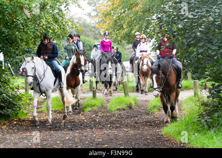 Wimbledon, London, UK. 10th Oct, 2015. Autumn weather on Wimbledon Common regular Saturday ride by local Riding - Stock Photo