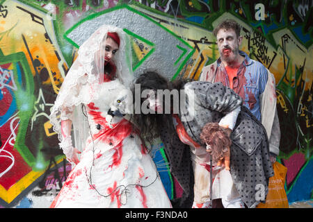 London, UK. 10/10/2015. World Zombie Day 2015 in London. The event raises money for the St Mungo's Broadway charity - Stock Photo