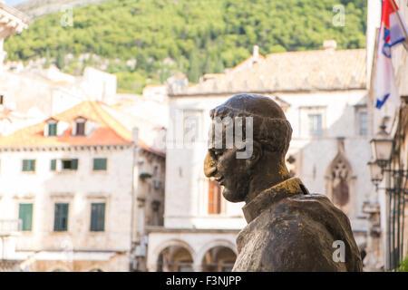 Statue of Marin Drzic, Old City Dubrovnic, Croatia. - Stock Photo