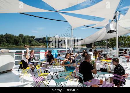 Warsaw summer Vistula leisure relax river sunny - Stock Photo