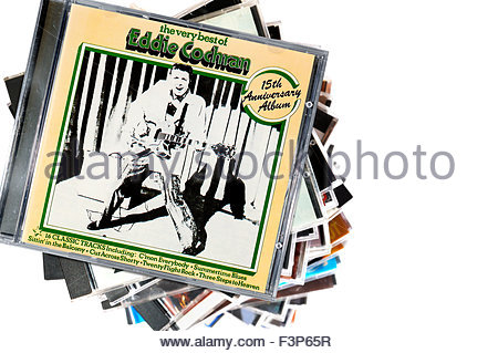 Music Cds By 1950s Rock N Roll Artists Stock Photo