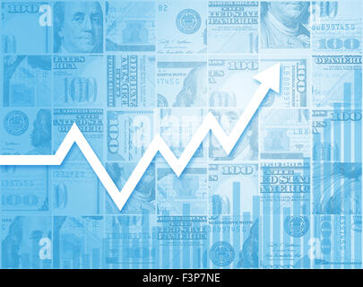 Business Growth Financial Stock Market Bar Chart Graph - Stock Photo