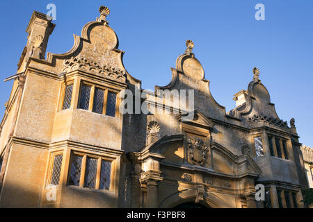 Stanway house gatehouse. Cotswolds, Gloucestershire, England - Stock Photo