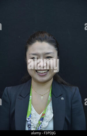 New York City, New York, USA. 10th Oct, 2015. SOYEON YI, the first South Korean in space, is a panelist on Secret - Stock Photo