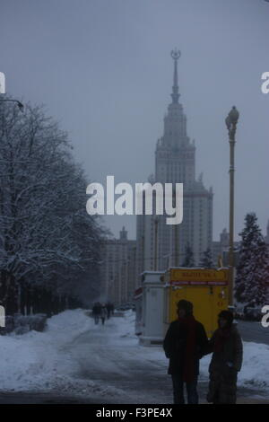 Moscow university in the winter - Stock Photo