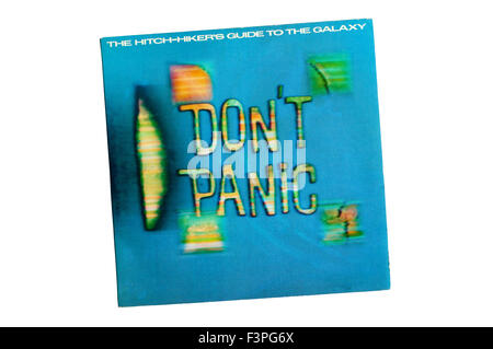 LP adaptation of the cult radio and TV show Hitchhiker's Guide to the Galaxy or H2G2 - Stock Photo